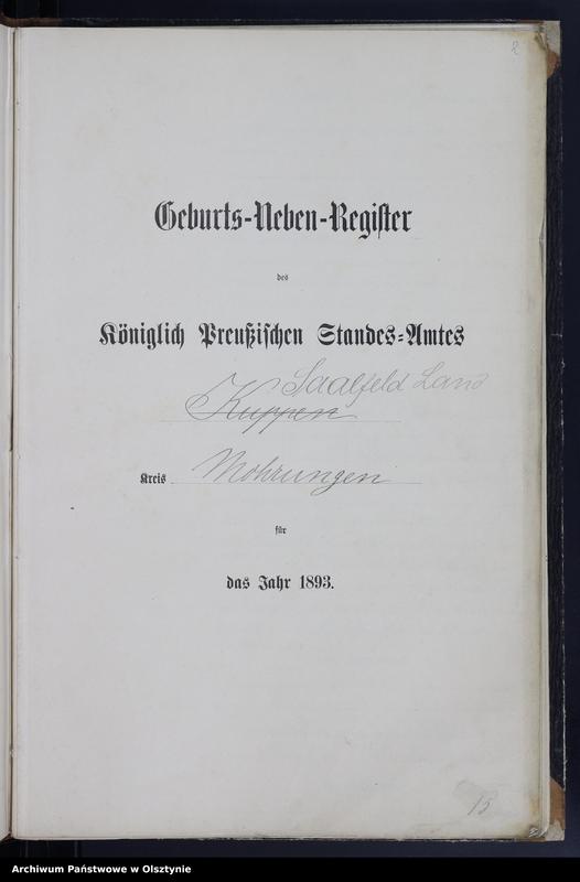 """Obraz z jednostki """"Geburts-Neben-Register Nr 1 - 69"""""""