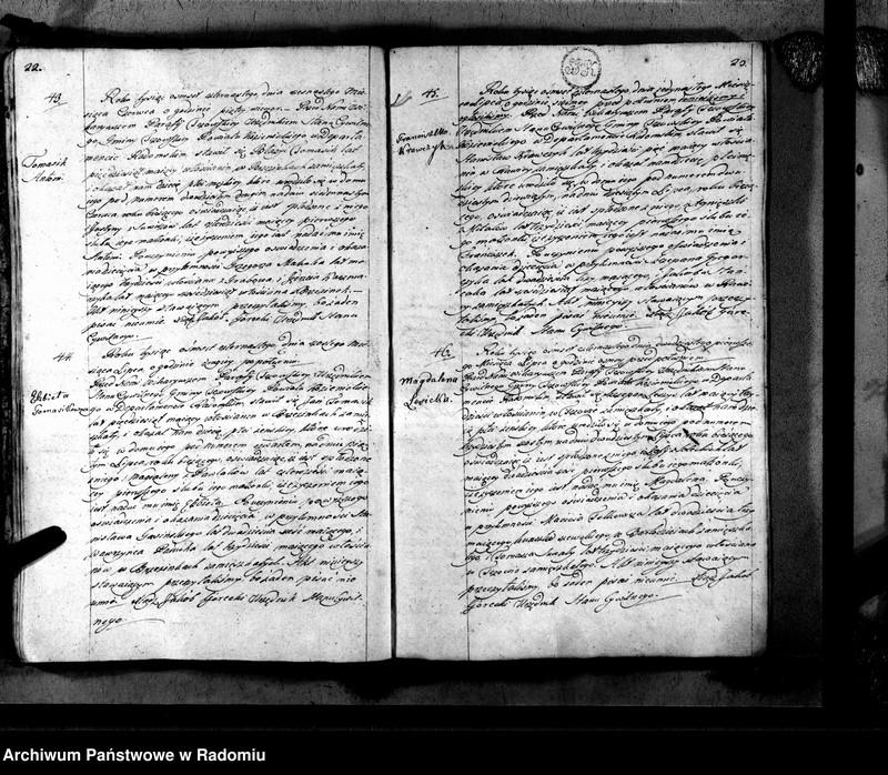 """Obraz 14 z jednostki """"Tczów 1814 [Duplikat akt urodzonych, zaślubionych i zmarłych]"""""""