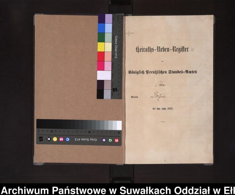 """Obraz z jednostki """"Heiraths-Neben-Register des Königlich Preussischen Standes-Amtes Orlen Kreis Loetzen"""""""