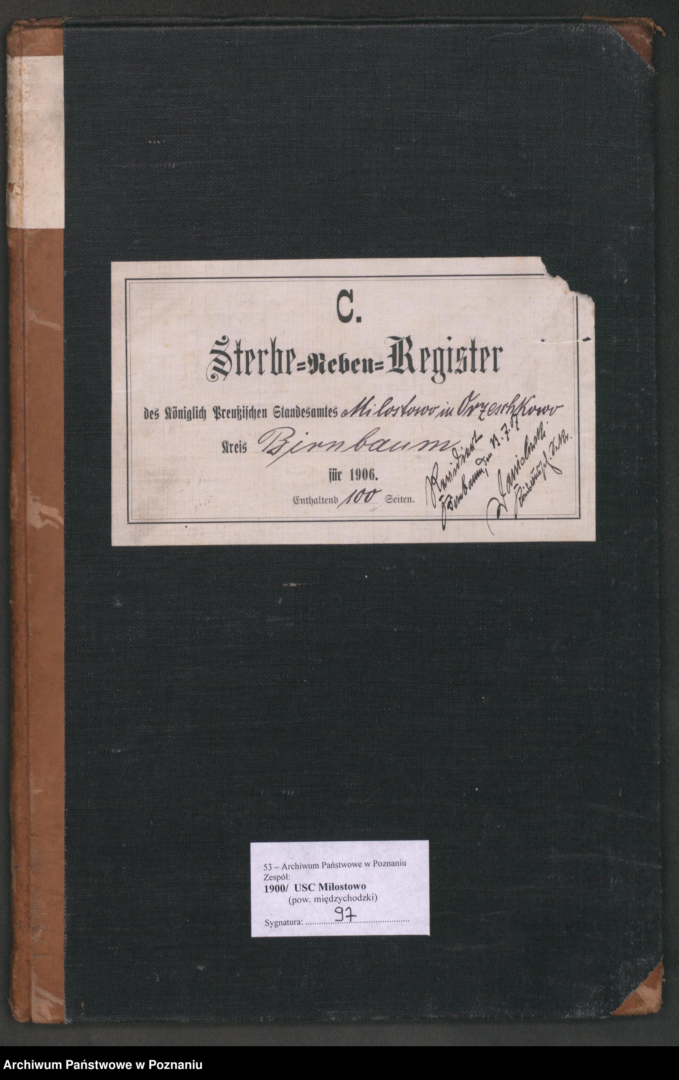 Skan z jednostki: Sterbe-Neben-Register