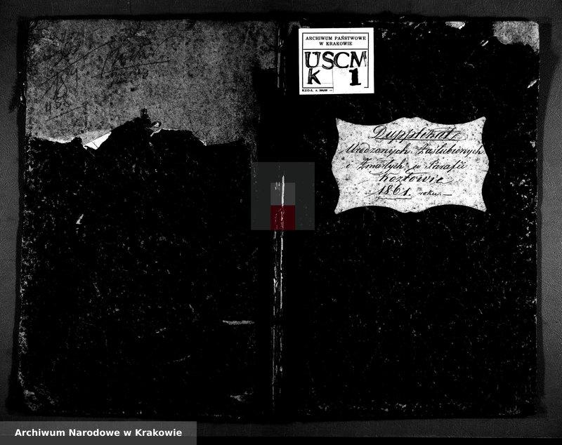 """Obraz z zespołu """"Akta stanu cywilnego Parafii Rzymskokatolickiej w Kozłowie, powiat miechowski"""""""
