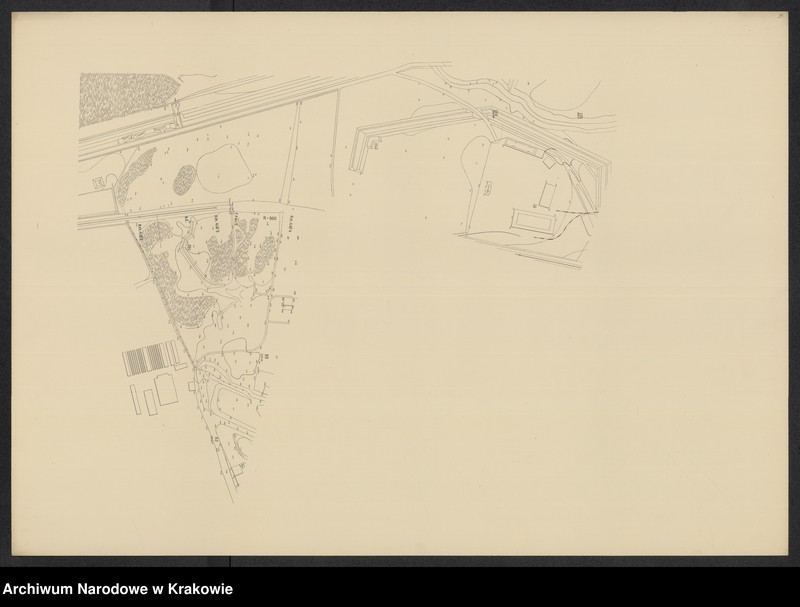 """Obraz 14 z jednostki """"[Kraków (część) Plan sytuacyjno-warstwicowy sprzed 1908 (kolej obwod.) po 1903 r.]"""""""