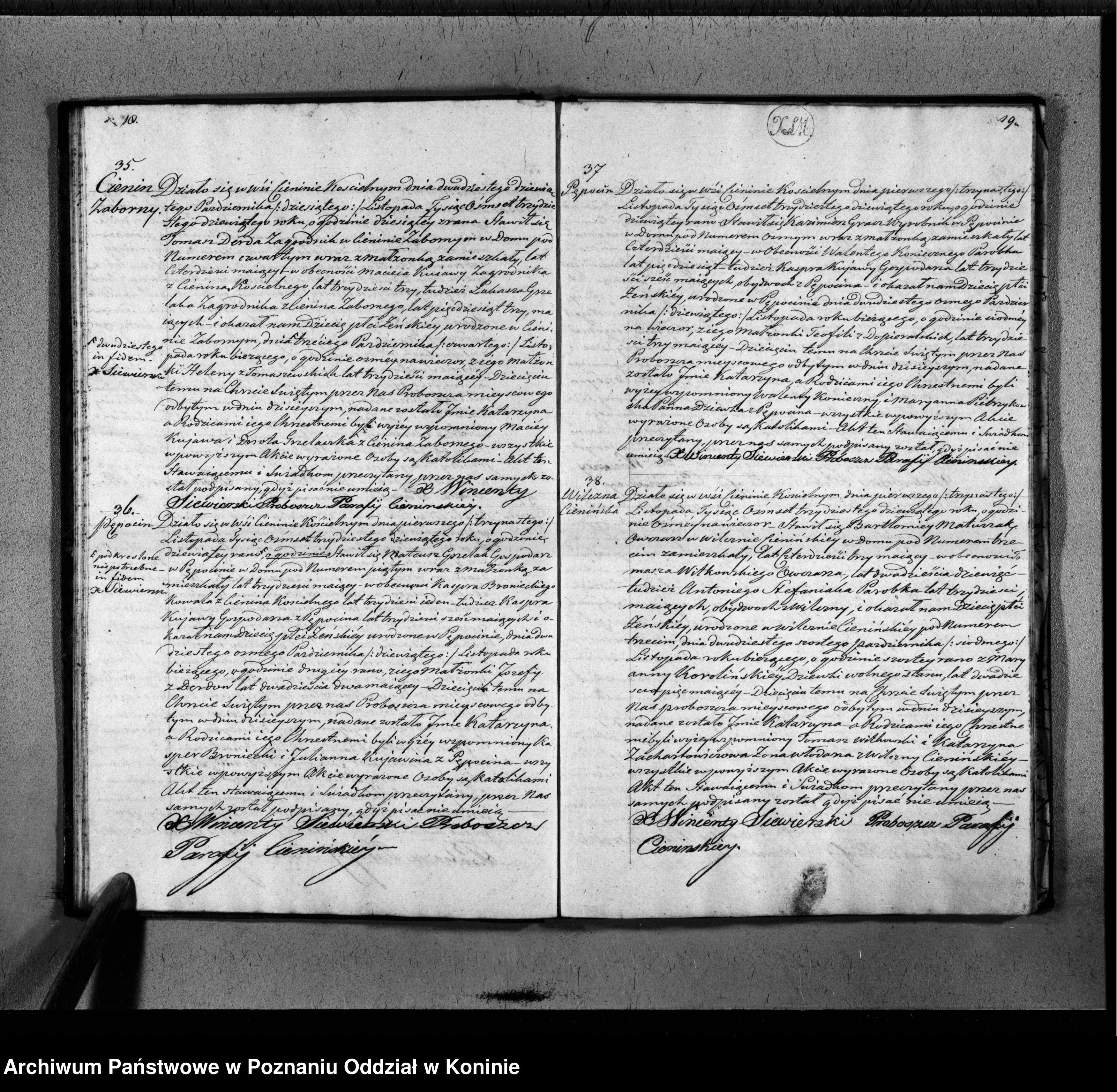 Skan z jednostki: Księga urodzonych, małżeństw i zgonów