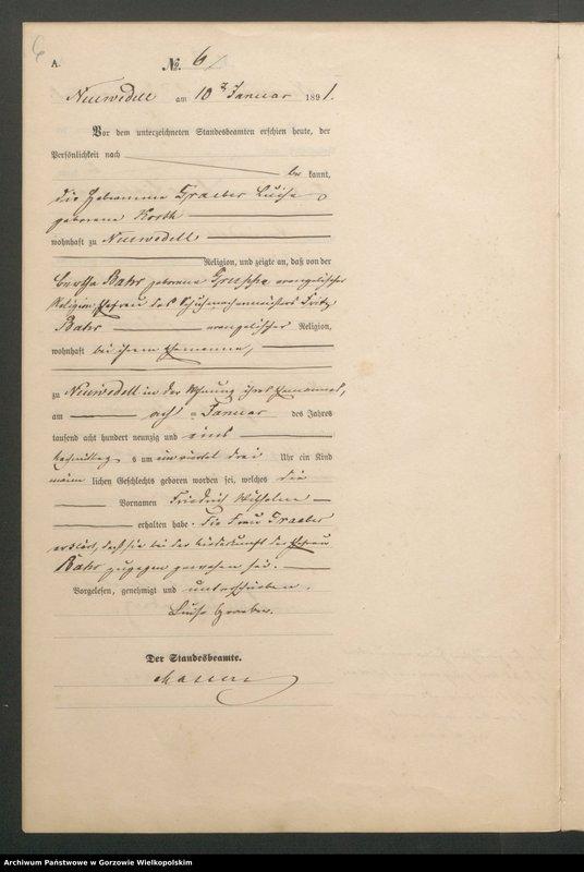 "Obraz 8 z jednostki ""Geburts Register"""