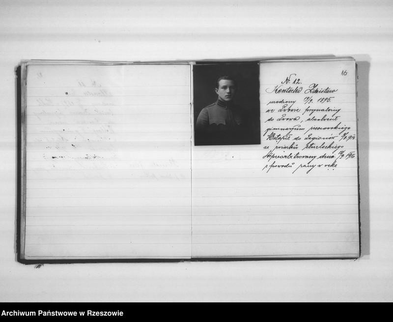 """Obraz 16 z jednostki """"Delegatura Departamentu Wojskowego N.K.W. Rzeszów (album superarbitrowanych Legionistów)."""""""