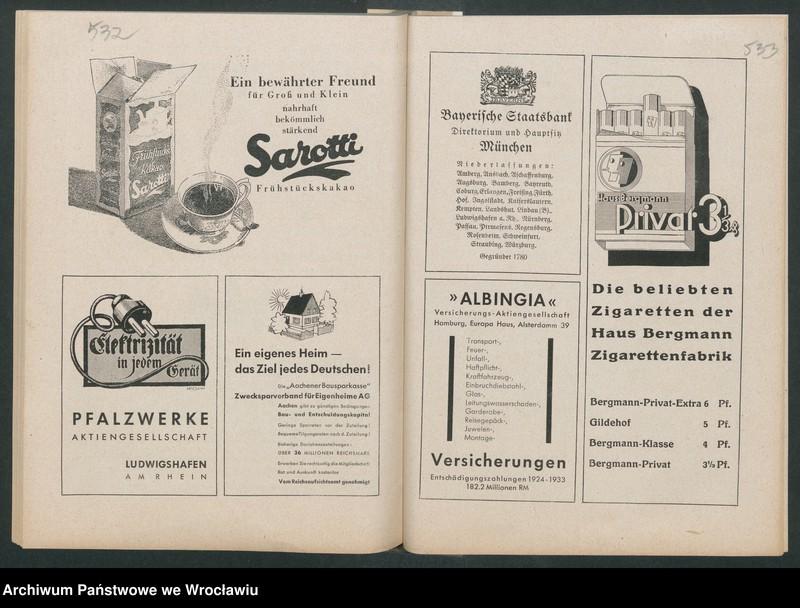 """Obraz 9 z kolekcji """"Reklamy znanych marek w roczniku """"Unsere Saar"""" z 1935 roku"""""""