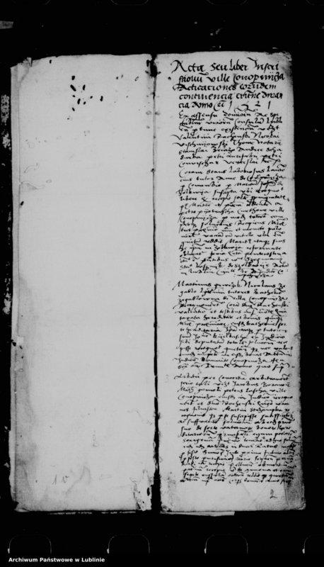 "Obraz 5 z jednostki ""Acta seu liber inscriptionum villae Conopnicza --"""