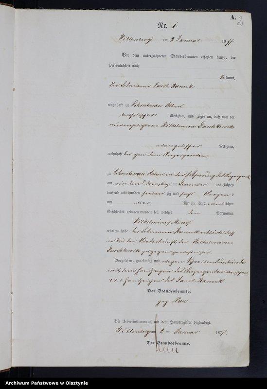 "Obraz z jednostki ""Geburts-Haupt-Register Nr 1 - 223"""