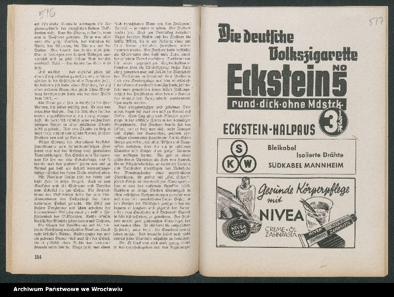 """Obraz 2 z kolekcji """"Reklamy znanych marek w roczniku """"Unsere Saar"""" z 1935 roku"""""""