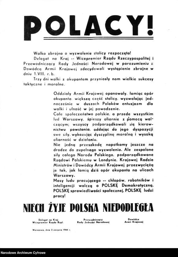 """Obraz 1 z kolekcji """"Powstanie Warszawskie 1944"""""""