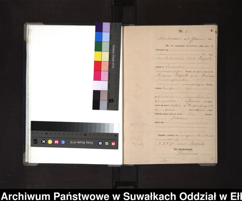 """image.from.unit """"[Geburts-Haupt-Register des Königlich Preussischen Standes-Amtes der Stadt Nikolaiken Kreis Sensburg]"""""""