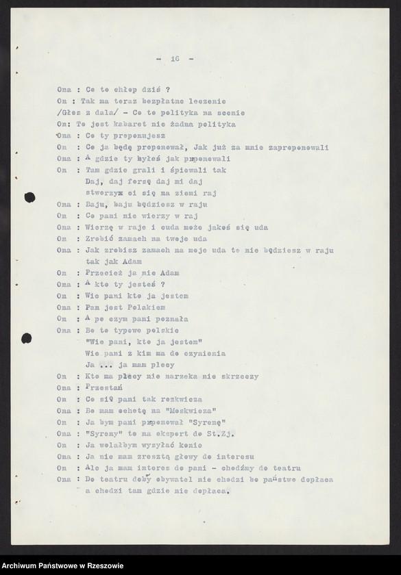 """Obraz 9 z kolekcji """"Wojewódzki Urząd Kontroli Prasy, Publikacji i Widowisk w Rzeszowie"""""""