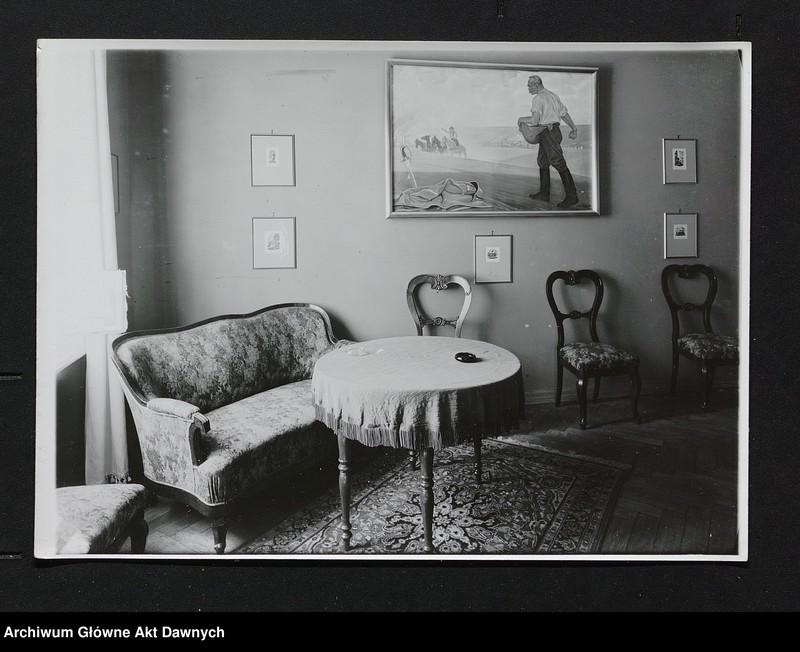 """Obraz 10 z jednostki """"Zbiór fotografii.  Zbiór fotografii przedstawiających Józefa Piłsudskiego, osobistości legionowe, pałac belwederski oraz fotokopie pism J.Piłsudskiego"""""""