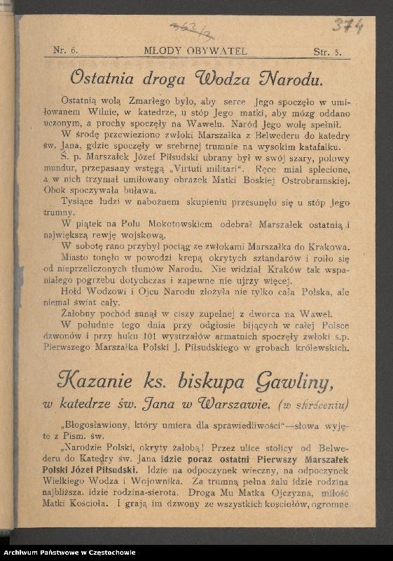 """Obraz 5 z kolekcji """"85 rocznica śmierci Józefa Piłsudskiego"""""""