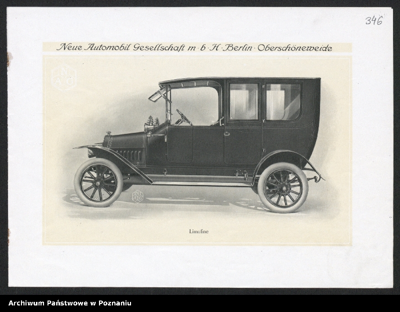 """Obraz 15 z kolekcji """"Automobile - prospekty reklamowe z początku XX wieku"""""""