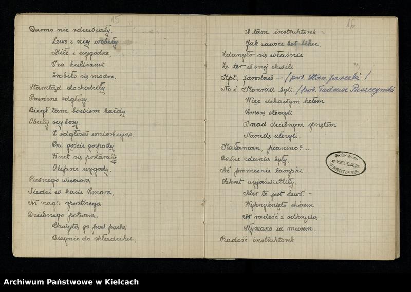 """Obraz 12 z jednostki """"Notatnik z piosenkami S.P. i O. z 1920 roku oraz Notesik żołnierski Stanisławy Olędzkiej-Daszewskiej"""""""