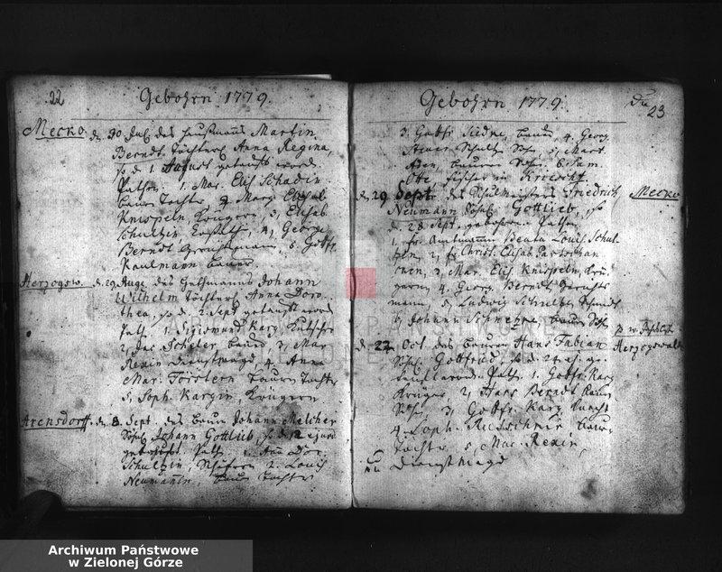"""image.from.unit.number """"Kirchen """"Buch"""" von Herzogswalde, Meekow und Arensdorf worin die Jährlich Gebohrnen, Verstorbenen und Vertrauten dieser Parochie verzeichnet worden von 6 Juli 1778."""""""
