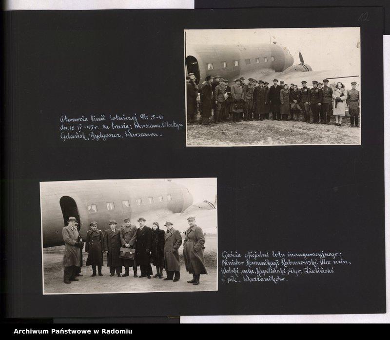 """Obraz 13 z jednostki """"[Album fotograficzny dokumentujący reaktywowanie krajowych połączeń lotniczych przez Polskie Linie Lotnicze """"Lot""""]"""""""
