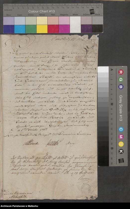 """Obraz z jednostki """"Anstellung der hiesigen Königlichen Kreis Officienten 1787/1806"""""""