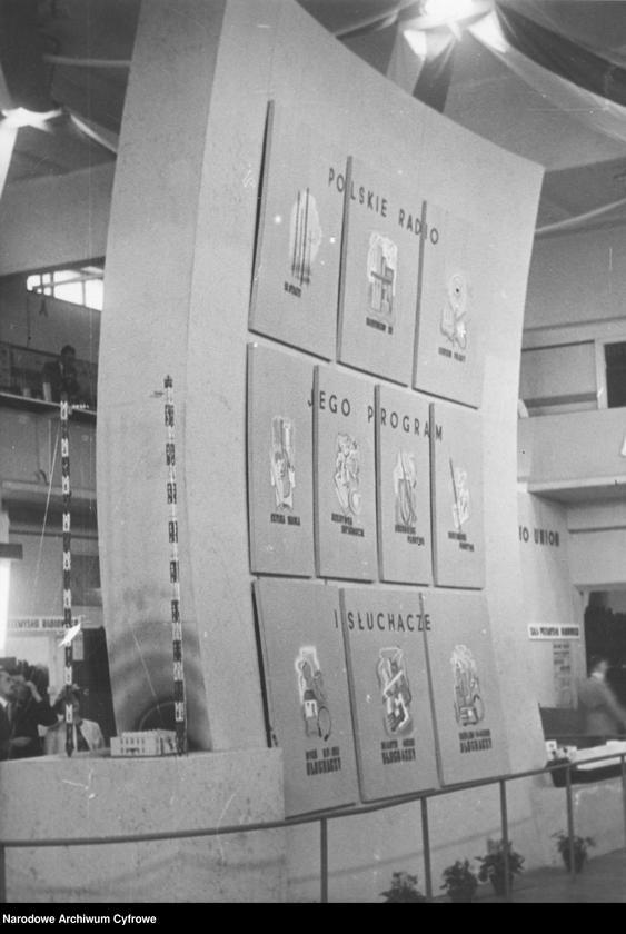 II Doroczna Wystawa Radiowa, fragment ekspozycji Polskiego Radia