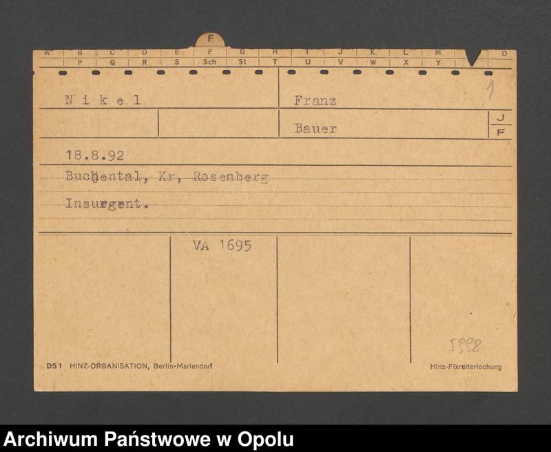 "Obraz 3 z jednostki ""[Nikel Franz, ur. 18.8.1892, zam. Buchental]"""
