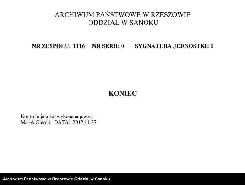 """Obraz z zespołu """"Izraelicki Okręg Metrykalny w Bieczu"""""""