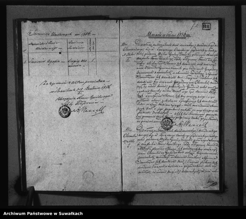 """image.from.unit """"Duplikat Akt Stanu Cywilnego Urodzonych, zaślubionych i zmarłych Sekty Filiponów z Gminy Berzniki z roku 1856"""""""