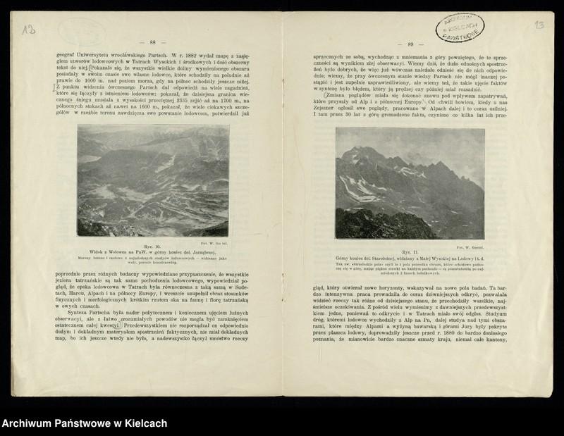"""Obraz z jednostki """"Tatry w epoce lodowcowej. Autor - W. Kuźniar"""""""