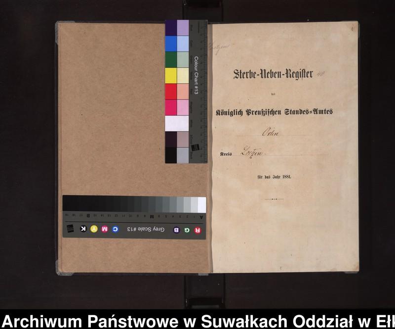 """Obraz z jednostki """"Sterbe-Neben-Register des Königlich Preussischen Standes-Amtes Orlen Kreis Loetzen"""""""