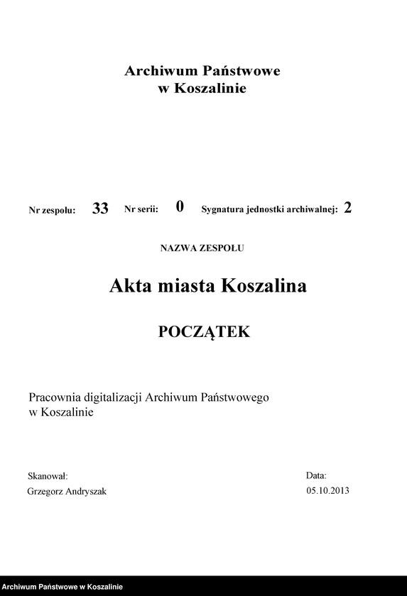 """Obraz 2 z kolekcji """"Kronika Wendlanda - pierwsza monografia Koszalina"""""""