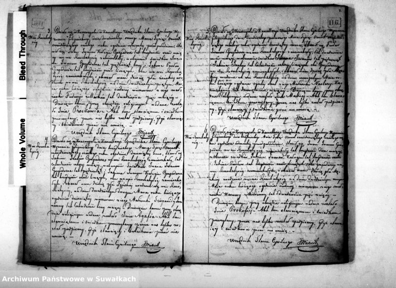 """Obraz z jednostki """"Duplikat Akt Urodzeń, Zaślubień i Zejść Wyznania Filipońskiego Gminy Krasnopol na Rok 1866"""""""