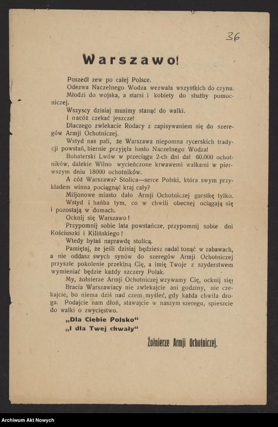 """Obraz 2 z kolekcji """"Wojna polsko-bolszewicka w dokumencie i fotografii"""""""