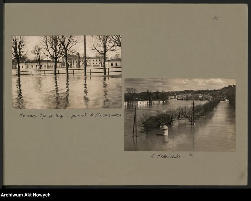 """Obraz 14 z jednostki """"Powódź na Wileńszczyźnie w 1931 r. Album z fotografiami."""""""