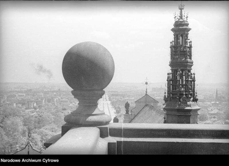 Obiekt Wierzchołek wieży i widok ogólny miasta. z jednostki Częstochowa