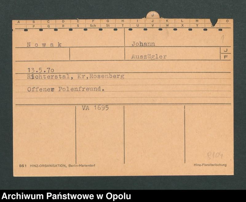 """Obraz 3 z jednostki """"[Nowak Johann, ur. 13.5.1870, zam. Richterstal]"""""""