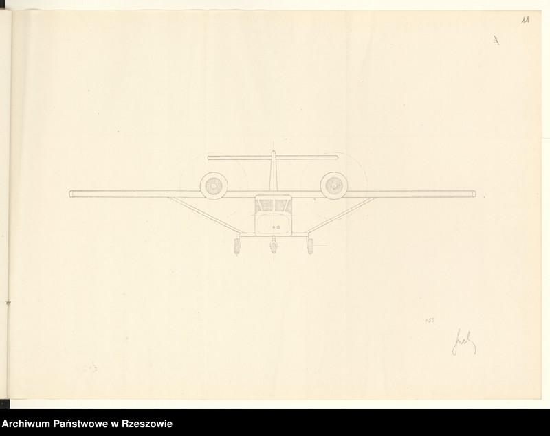 """Obraz 14 z jednostki """"Ogólny projekt ,wstępny """"JAMEL"""" - lekki samolot wielozadaniowy ."""""""