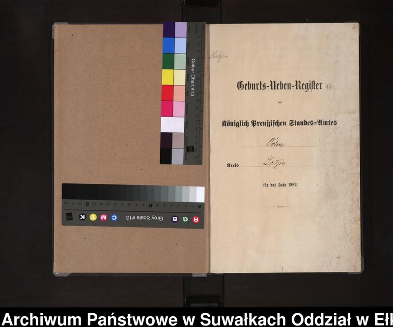 """Obraz z jednostki """"Geburts-Neben-Register des Königlich Preussischen Standes-Amtes Orlen Kreis Loetzen"""""""