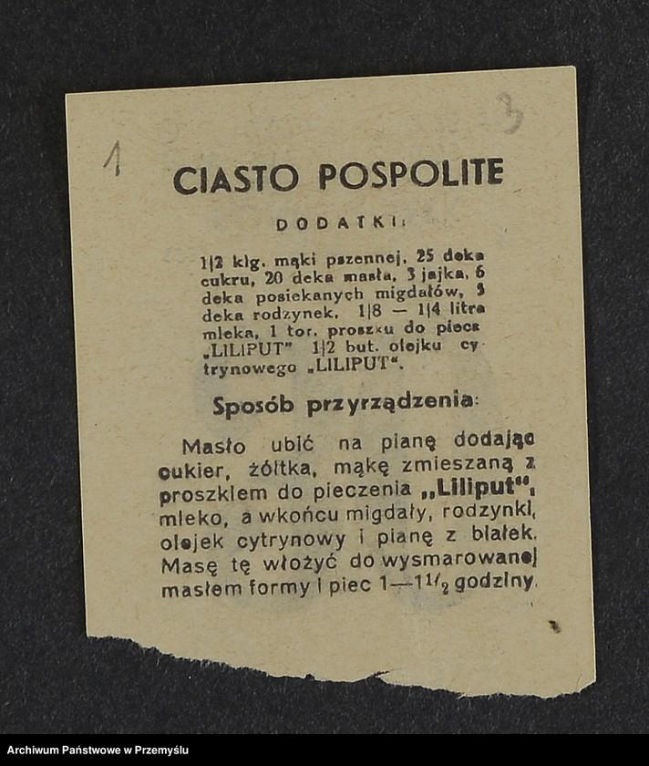 """Obraz 14 z kolekcji """"Przepisy kulinarne z kalendarza z 1935 roku"""""""