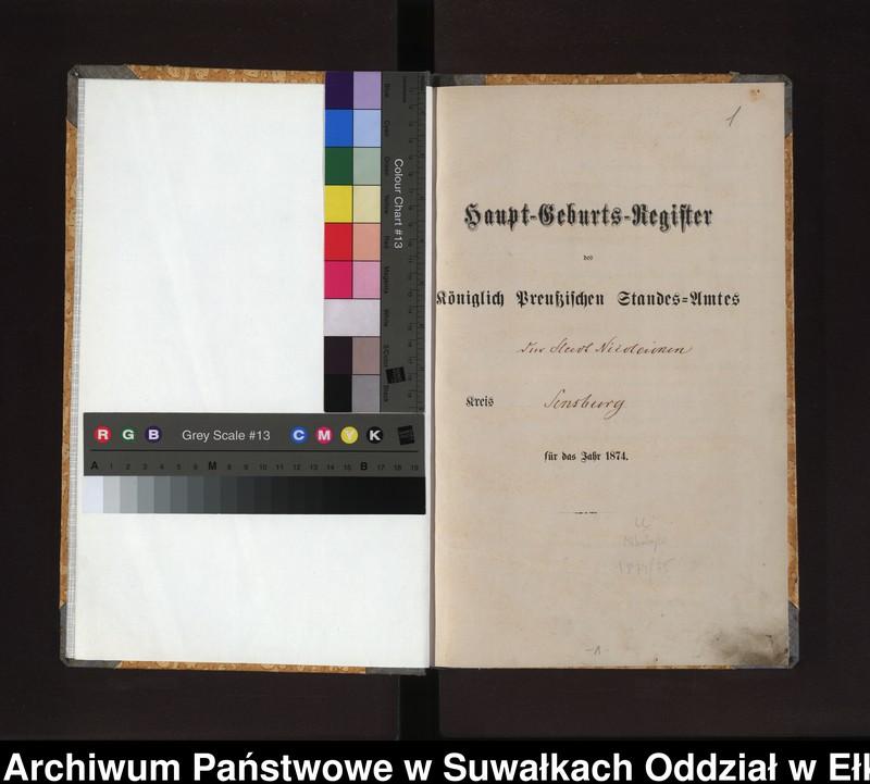 """image.from.unit """"Haupt-Geburts-Register des Königlich Preussischen Standes-Amtes der Stadt Nicolaiken Kreis Sensburg"""""""