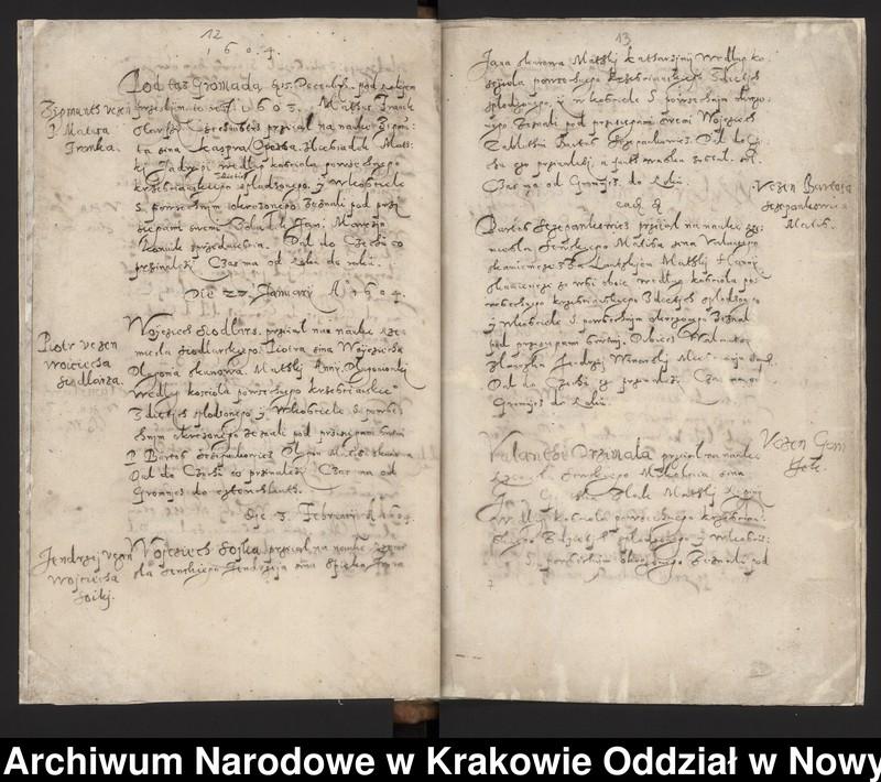 """Obraz 2 z kolekcji """"Fragment księgi cechu szewskiego w Starym Sączu z lat 1603-1709"""""""