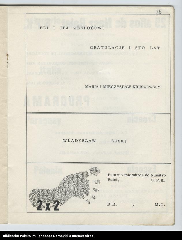 """Obraz 13 z kolekcji """"Nasz Balet 1949-1974 z Biblioteki Polskiej im. Domeyki w Buenos Aires"""""""