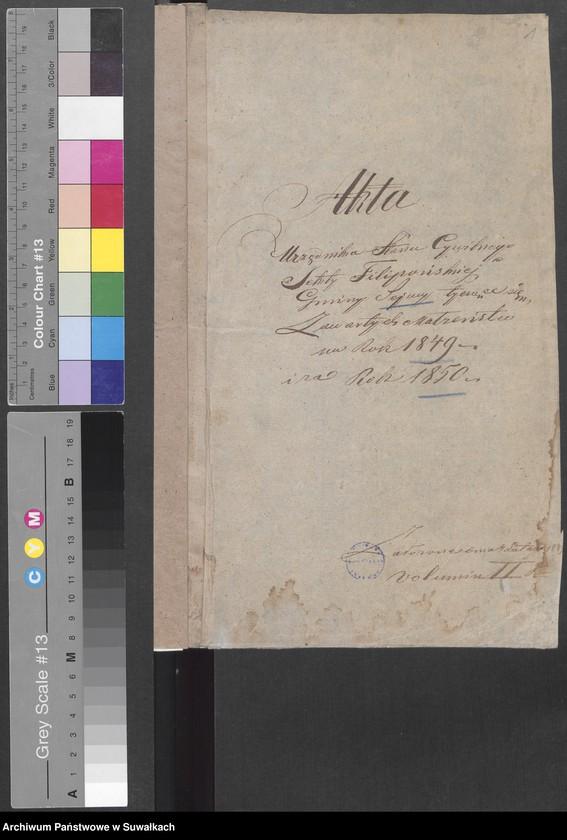 """image.from.unit """"Akta Urzędnika Stanu Cywilnego Sekty Filipońskiej Gminy Sejwy tyczące się Zawartych Malżeństw na Rok 1849 i za Rok 1850"""""""