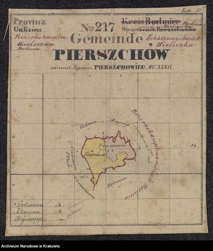 """Obraz 3 z jednostki """"217 Dorf Pierszchów [Pierzchów] sammt Enclave Pierszchowiec [Pierzchowiec] in Galizien Bochnier Kreis"""""""