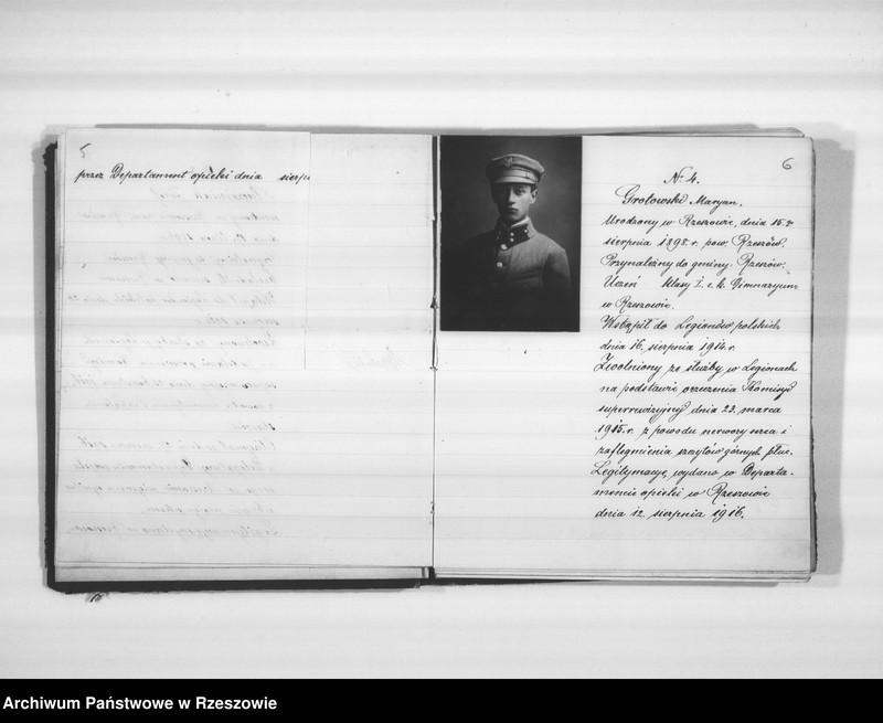 """Obraz 8 z jednostki """"Delegatura Departamentu Wojskowego N.K.W. Rzeszów (album superarbitrowanych Legionistów)."""""""