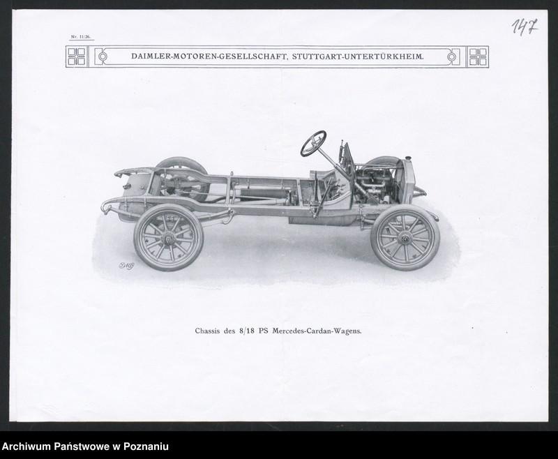 """Obraz 7 z kolekcji """"Automobile - prospekty reklamowe z początku XX wieku"""""""