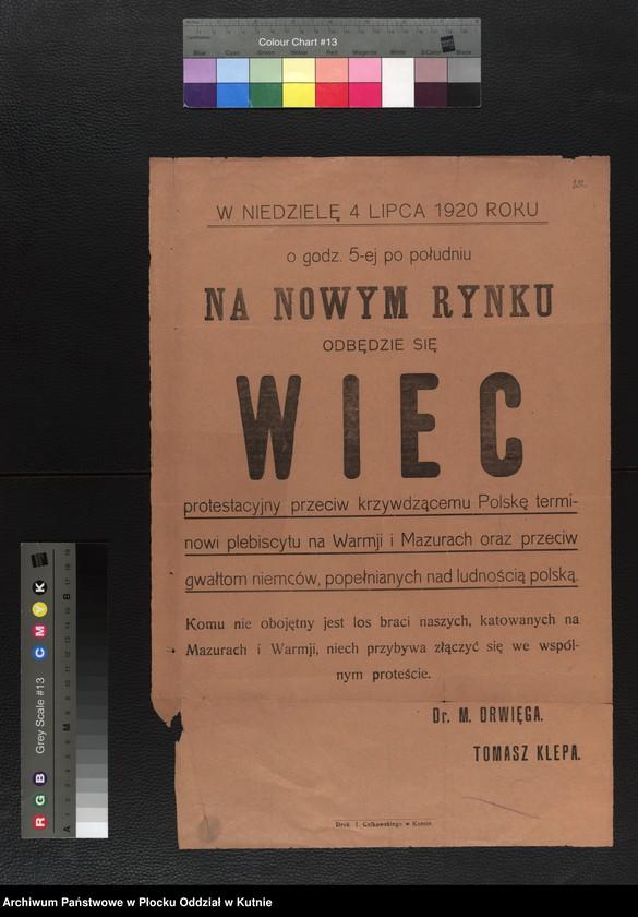 """Obraz 15 z kolekcji """"plakaty z wojny polsko-bolszewickiej"""""""