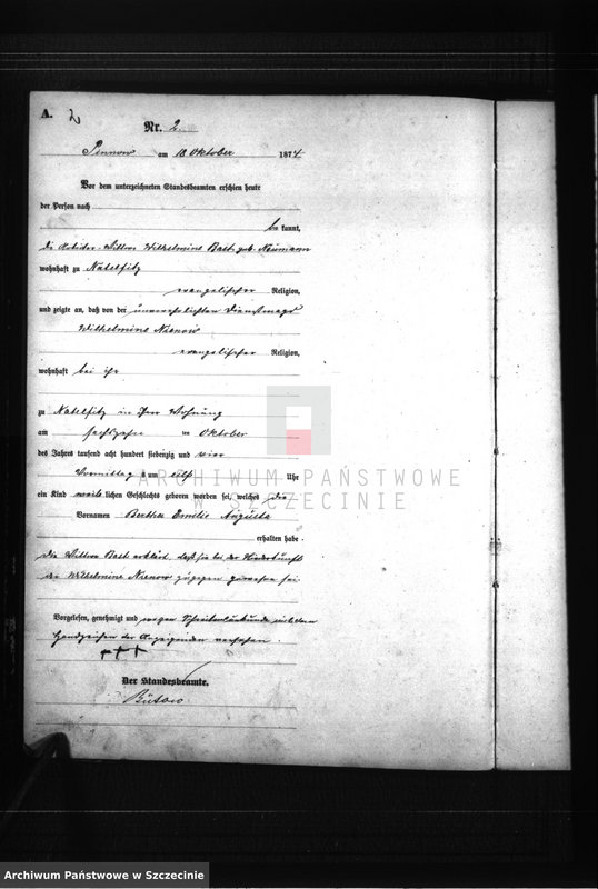 """Obraz z zespołu """"Urząd Stanu Cywilnego w Wicimicach"""""""