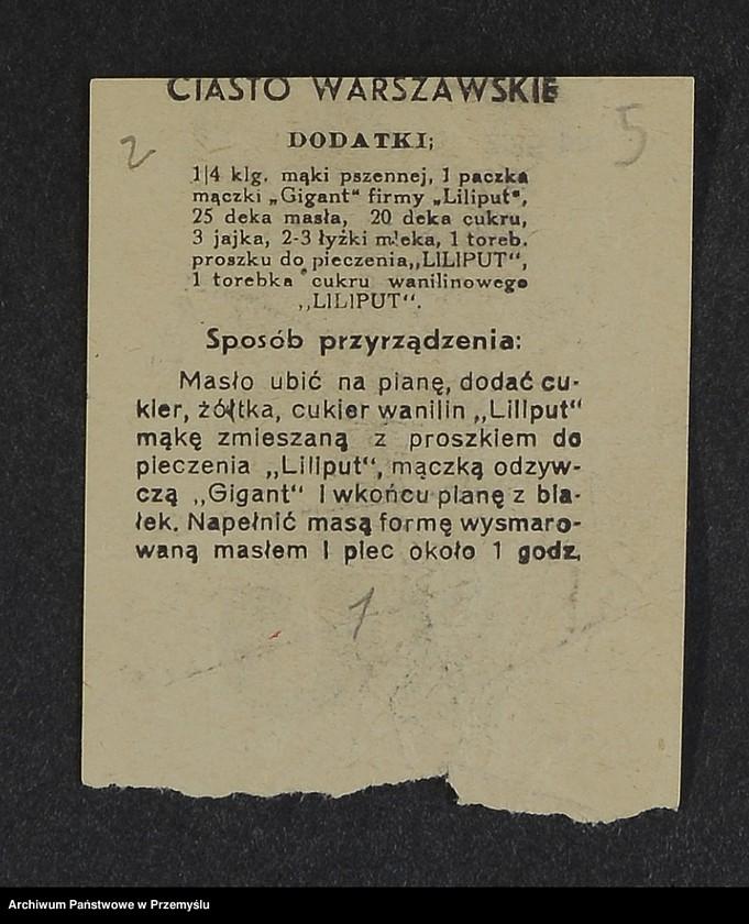 """Obraz 15 z kolekcji """"Przepisy kulinarne z kalendarza z 1935 roku"""""""