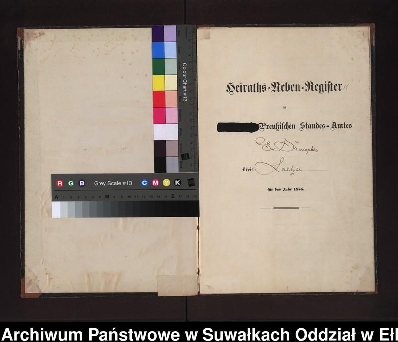 """image.from.unit """"Heiraths-Neben-Register des Preussischen Standes-Amtes Gr. Konopken Kreis Loetzen"""""""