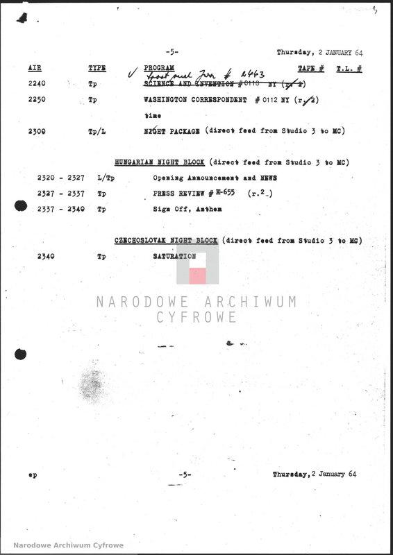 """Obraz z jednostki """"Skrypty audycji z dnia 02. 01.1964"""""""